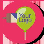 custom logo balloons
