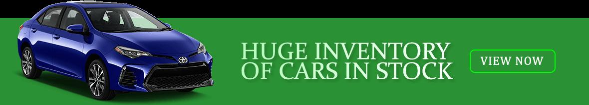 huge vehicle inventory